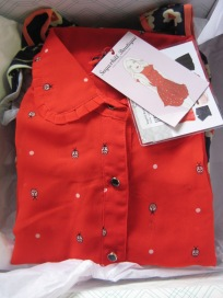 Red Ladybug Blouse by Sugarhill Boutique